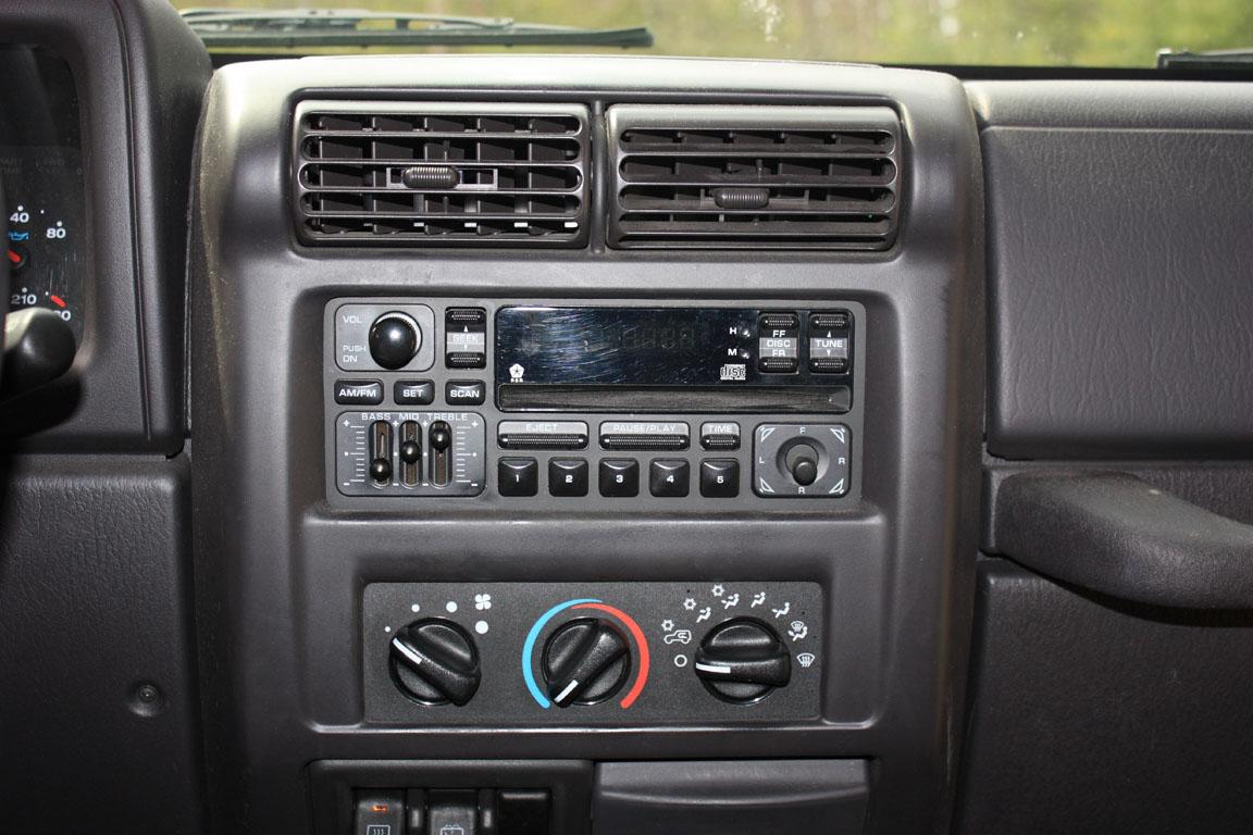upgrading a 2001 jeep wrangler stereo. Black Bedroom Furniture Sets. Home Design Ideas